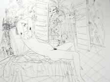 Grabado Louis CANE post 1985 Desnudo en el'taller firmado 25/28