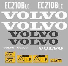 Volvo EC210BLC Bagger-Aufkleber-Aufkleber-Satz mit Sicherheit Warnung Aufklebern