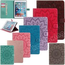 Sunflower Embossed Flip Leather Stand Case Cover For iPad 5th 6th Gen Mini Air 2