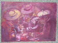 ANDREW TURNER Acrylic Painting on Wood Panel Men at Bar Boys Night Out Jazz