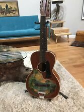 Vintage Tropical Themed Guitar