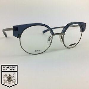 JIL SANDER eyeglasses BLUE/GREY ROUND glasses frame MOD: J2006 D