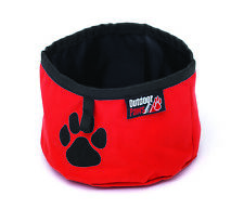 Dog Travel Bowl - Foldable, Portable, Food & Water, Walks, Hiking, Journeys, Red