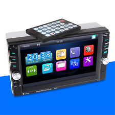 """6.6"""" Double 2DIN Car MP5 MP3 Player Bluetooth Touch Screen Stereo Radio +Camera"""