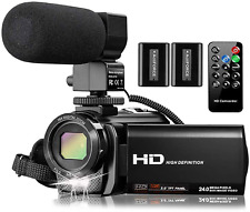 Video Camera Camcorder w/Microphone FHD 1080P 30FPS 24MP Vlogging YouTube Camera