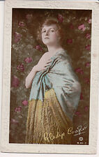 Vintage Postcard Dame Gladys Cooper English actress Color RPPC