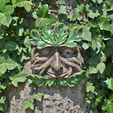 Tree Ent Face Leaf Plaque Wall Garden Ornament Greenman Myth Tangleroot 80604