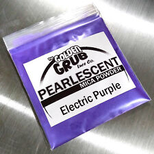 NEW 1 OZ. ELECTRIC PURPLE with Bluish Sheen Pearly Mica Powder Fishing Plastisol