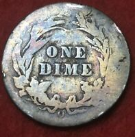 1908 o New Orleans Mint Silver Barber Dime #59