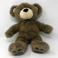Build a Bear Brown Bearemy Stuffed Animal Plush Faux Leather Pads BAB