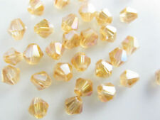 Wholesale Lots 100-1000ps Crystal Glass Faceted Bicone Beads 6mm Spacer Findings