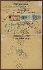 FRENCH SAHARA BANDIAGARA REGISTERED POSTES + TELEGRAPHS SEAL 1928 INSURED MAIL