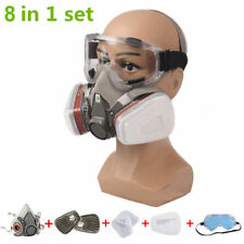 8 in 1 Mask Goggles F 3M 6200 Gas Spray Painting Respirator Protection Eyes Mask