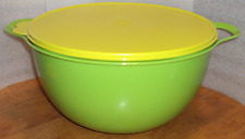 Tupperware Mega Thatsa Bowl Mixing 42 Cups Mix Serve Margarita Green Seal New