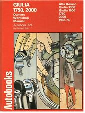 ALFA ROMEO GIULIA GTV DUETTO SPIDER 1300 1600 1750 2000 '62-76 WORKSHOP MANUAL