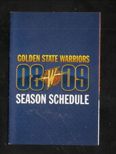 Golden State Warriors--2008-09 Pocket Schedule--Verizon