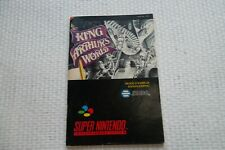 Notice Super Nintendo / Snes manuel King arthur World PAL fah original Booklet *