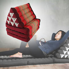 Portable Thai Triangular Pillow Mattress Floor Yoga Mat Cushion Day bed R10