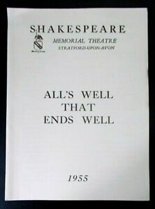 All's Well That Ends Well programme Shakespeare Memorial Theatre 1955 Ian Holm