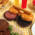 Plastic Double Hamburger Press Burger Meat Compactor Press Mold Grill Maker