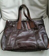 Christopher Kon Real Leather Brown Tote Handbag Office Bag Large