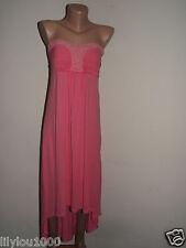 NEXT CORAL EMBELLISHED BANDEAU  DRESS SIZE 10 NWT