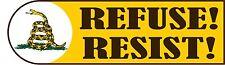 TEA PARTY REFUSE & RESIST POLITICAL STICKER
