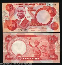 NIGERIA AFRICA 10 NIARA P25G 2005 EAGLE BOWL UNC CURRENCY MONEY BILL BANK NOTE