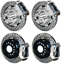 "WILWOOD DISC BRAKE KIT,59-64 IMPALA,BEL AIR,12"" DRILLED ROTORS,POLISHED CALIPERS"