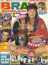 BRAVO 43/15.10.1992 Poster QUEEN+WWF SUPERSTARS+DEPECHE MODE+ Fanta 4