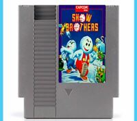 Snow Brothers NES Nintendo USA platform arcade video game cartridge cart