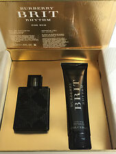 New Burberry Brit Rhythm Gift Set MEN 1.6 oz De Toilette + 3.3 oz COLOGNE 576