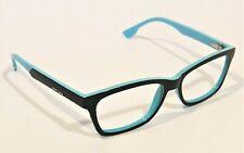 Women's Designer Diesel Navy Blue and Teal Acetate Eyeglasses - Nice Condition!