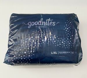 Goodnights Nighttime Bedwetting Girls Underwear L / XL (95-104+ lb.) 17 Ct New