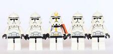 LEGO® Star Wars - 5 Clone Trooper Army - Ep3 Yellow White Clone + Custom Cape