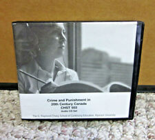 CRIME & PUNISHMENT 20th Century Canada audio-book CDs social history 2004 course