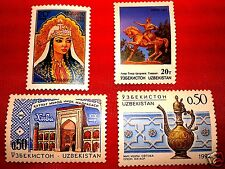UZBEKISTAN 1992  PRINCESS NADIRA , CRAFT ,Medrese in Khiva, monument Taskent set