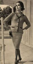 1950s Chanel Suit Pencil Skirt Vintage Patons Knitting Pattern PDF Maureen Retro