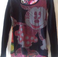 Damen-Tunika-T-Shirt-Pullover-Gr.S-DESIGUAL-Disney-Mickey Maus-Bunt-Süß