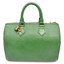 Authentic Louis Vuitton Epi Leather Speedy 25 Mini Boston Satchel Hand Bag Green
