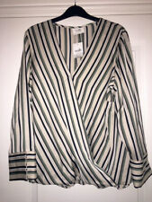 Wallis Striped Long Sleeve Top blouse. Size 16