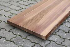 Waschtisch Tischplatte Platte Nussbaum Lackiert Massiv Holz Baumkante Leimholz