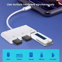 USB Camera Adapter with Lightning Charging Port,6 in 1 SD TF Card Reader 512GB