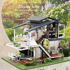 More details for monet garden diy dollhouse miniature 1:24 wooden w/ furniture kit kids toy gift