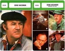 FICHE CINEMA x2 : GENE HACKMAN -  USA (Biographie/Filmographie)