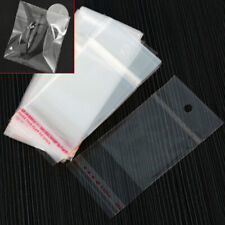200 Pcs Clear OPP Self Adhesive Seal Plastic Bags 5*10cm Packaging Pack ZWQ