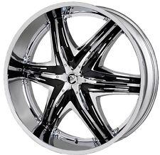 22 inch 22x9.5 DIABLO ELITE G2 Chrome wheel rim 5x4.5 5x114.3 +40