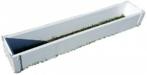 Raised Garden Bed 8.5 in. x 48 in. x 6 in. Rectangle Vinyl in Smooth Gloss White