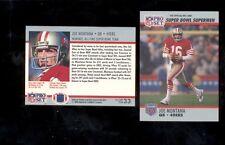 1990 Pro Set JOE MONTANA San Francisco 49ers Super Bowl XXV Commemorative Card
