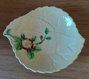 Carlton Ware Australian Design Hand Painted Leaf Dish & Rose - Trinket Dish Tray